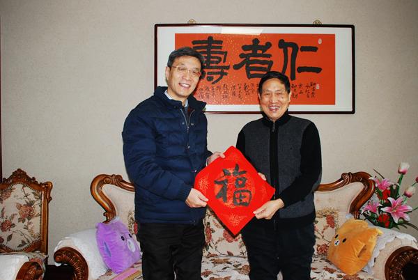 南京医科大学校领导春节前夕开展走访慰问活动